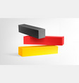 3d germany flag vector image vector image