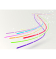 Abstract colorful bright streaming swoosh lines vector image vector image