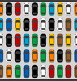 aerial view parking with lots of multicolored cars vector image vector image