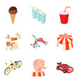 autotravel icons set cartoon style vector image vector image