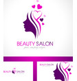 Beauty Salon Logo Design vector image
