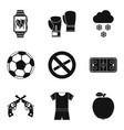 best of the best icons set simple style vector image vector image