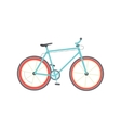 Bicycle isolated flat cartoon vector image vector image