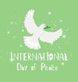 bird peace vector image vector image