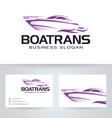 Boat Trans vector image vector image