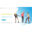 business training pulling rope competition worker vector image vector image