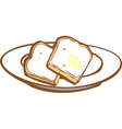 Buttered Toast vector image vector image