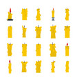 candle icon set flat style vector image