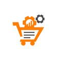 cart gear online vector image