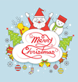 Christmas Line Label with Typescript vector image vector image