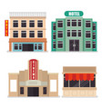 cityscape buildings scene icons vector image vector image