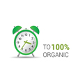 clock organic green vector image vector image