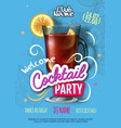 cocktail party poster in eclectic modern style vector image vector image