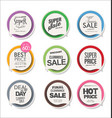 collection colorful modern badges and labels 1 vector image vector image