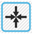 Compress Arrows Icon In a Frame vector image vector image