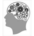 Concept of thinking mind works the creation of vector image