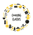 cooking hand drawn abstract design with kitchen vector image vector image