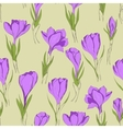 crocus seamless patterm 3 vector image vector image