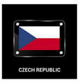 czech republic flag design vector image