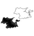 da nang province map vector image vector image