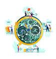 deadline time management business concept vector image
