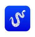 dotted snake icon digital blue vector image vector image