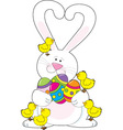 Easter bunny love vector image vector image