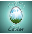 Easter with abstract egg vector image