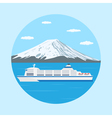farry boat vector image