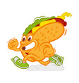 fast hot dog vector image vector image