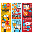 fastfood express delivery service vector image vector image