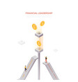 financial leadership - modern isometric web vector image