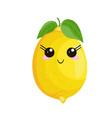 funny cartoon cute lemon funny face stock vector image vector image
