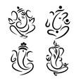 ganesha om symbol tattoo icon vector image