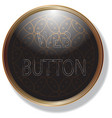 gold frame black web button and icon template vector image vector image