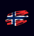 grunge textured norwegian flag vector image