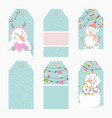 hand drawn creative christmas tags vector image vector image