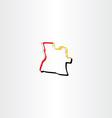 icon angola map symbol vector image