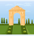 india famous gateway attraction summer vector image vector image