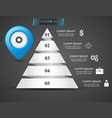 infographic pyramid with blue pin icon vector image