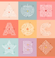 maze way labyrinth conundrum for children entry vector image vector image