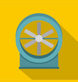 metal electric fan icon flat style vector image vector image