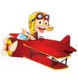 Monkey flying aircraft vector image vector image
