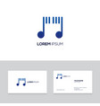 music emblem design element can be used vector image vector image