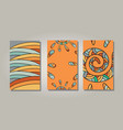 orange sun banners vector image