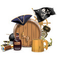 Pirate Bar Concept vector image vector image