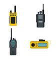 Portable radio icon set flat style