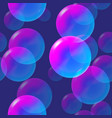 rainbow pink and blue bubbles with light vector image vector image