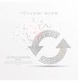 refresh circular arrows digitally drawn low poly vector image vector image