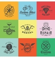 Retro Custom Bicycle Labels or Logo vector image vector image
